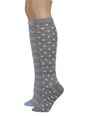 Hanes Women's Assorted Giftable Knee High Socks 2-Pack