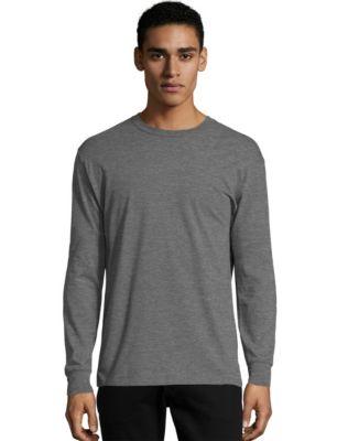 Hanes X-Temp® Men's Crewneck Long-Sleeve T-Shirt