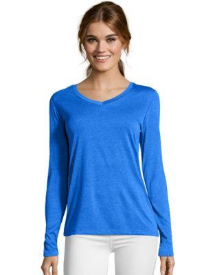Hanes Sport&#153 Cool DRI® Women's Performance Long-Sleeve V-Neck T-Shirt