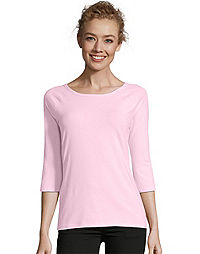 3/4 & long sleeve T-Shirts - Style and Comfort For Women From Hanes