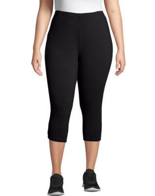 Just My Size Stretch Cotton Jersey Women's Capri Leggings