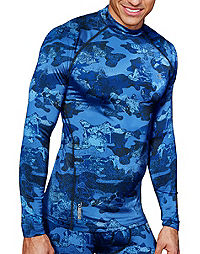 Champion Gear™ Men's Cold Weather Compression Printed Mock Top
