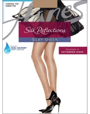 Hanes Silk Reflections Control Top Sheer Toe Pantyhose