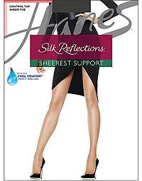 Hanes Silk Reflections Sheerest Support Control Top Sheer Toe
