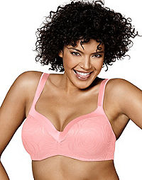 Playtex Secrets Body Revelation Underwire Bra with Floral Jacquard Pattern