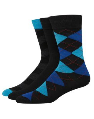 Hanes Ultimate™ Men's FreshIQ™ Men's Assorted Dress Socks 3-Pack