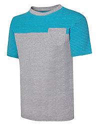 Hanes X-Temp® Boys' Colorblock Pocket Short-Sleeve T-Shirt