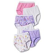 Hanes Tagless® Toddler Girls Days of the Week Pre-Shrunk Cotton Briefs 7-Pack GT