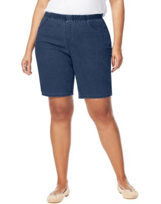 JMS Pull-On Denim Bike Shorts