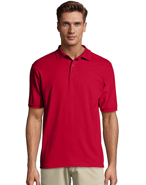 ea141656239 Hanes Cotton-Blend Jersey Men's Polo | HX054
