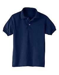 fa43574c39027 Hanes Kids  Cotton-Blend EcoSmart® Jersey Polo