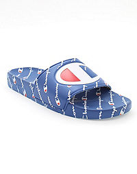 Champion Men's Slide Sandals, Repeating Logo