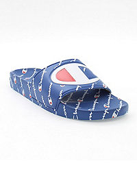 Champion Youth Slide Sandals, Repeating Logo