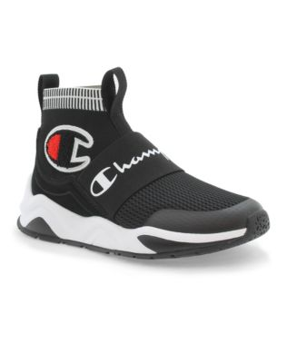 Champion Life™ Kids' Rally Pro Shoes, Black/Sideline Red