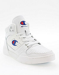 Champion Life® Men's 3 On 3 White Leather Shoes