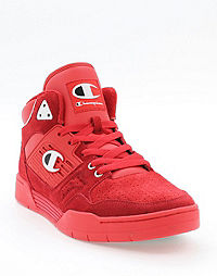 Champion Life® Men's 3 On 3 Red Suede Shoes