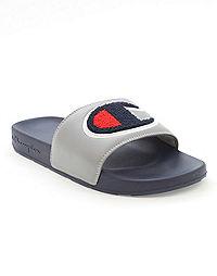 Champion Life® Men's  Oxford Grey/Navy Slide Sandals, Chenille C Logo