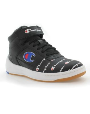 Champion Life™ Women's Super C Court Print Leather Shoes, Black