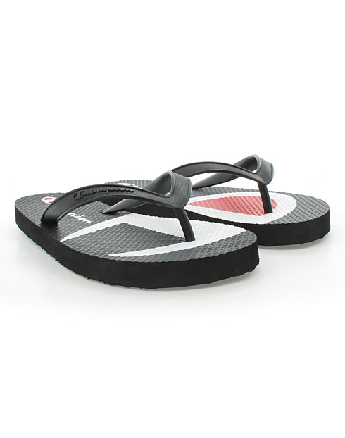 Champion Life™ Men's Flip Flops Split C Logo, Black