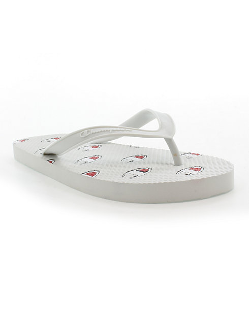 Champion Life™ Men's Flip Flops Allover C Logo, White