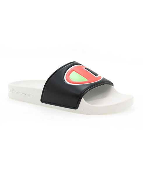Champion Life™ Women's IPO Colorblock Slides, Black Multi