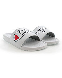 Champion Life™ Men's Super Slides Split Script Logo, White