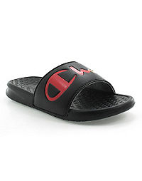 Champion Life™ Women's Super Slides Rainbow Split Script, Black