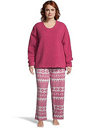 Hanes Plus Sherpa & Microspandex Sleep Set
