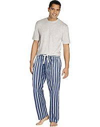 Hanes Men's Sleep Set with Woven Pants
