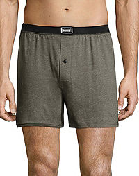 092ebfe8236c Hanes Men's 1901 Heritage Dyed Knit Boxers Assorted 4-Pack