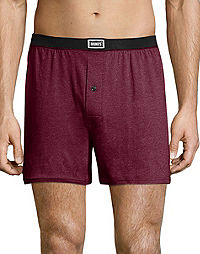 Hanes Men's 1901 Heritage Dyed Knit Boxers Assorted 4-Pack