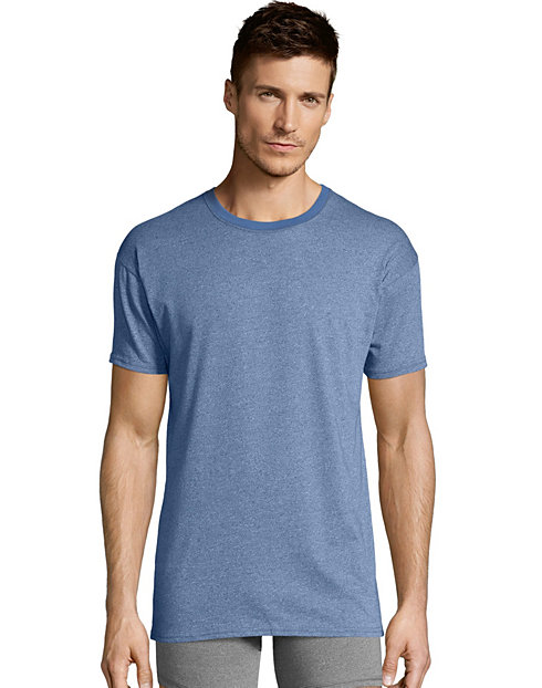 Hanes Men's 1901 Heritage Dyed Crewneck T-shirt 4-Pack