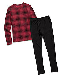 Climate Essentials by Cuddl Duds Boys' Waffle Thermal Set