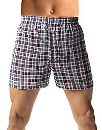 Hanes TAGLESS? Men's Woven Boxers 3XL-5XL 3-Pack