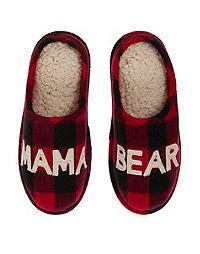 Dearfoams Women's Mama Bear Plaid Clog Slipper