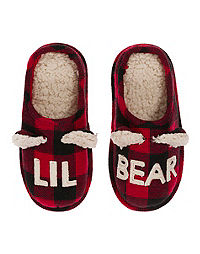 Dearfoams Lil Bear Plaid Clog Slipper