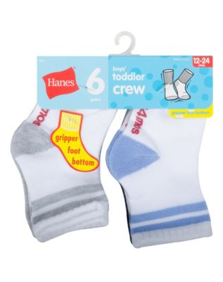 Hanes Toddler Boys' Crew Socks 6-Pack