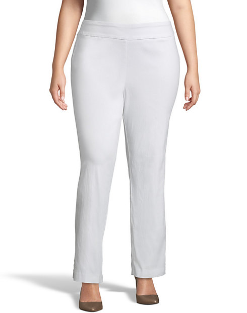 Super Stretch Pull On Ankle Pants