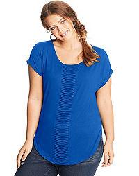 JMS Banded-Front Short Sleeve Tee