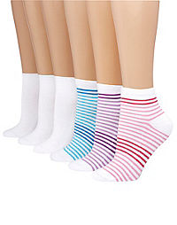Hanes Women's ComfortBlend® Ankle Socks 6-Pack
