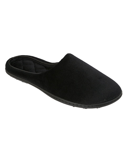 Dearfoams Women's Microfiber Velour Clog Slippers
