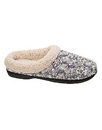 Dearfoams Women's Boucle Clog Slipper with Faux Shearing