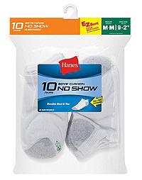 Hanes Boys' No-Show  EZ Sort® Socks 10-Pk