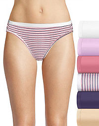 Hanes Ultimate® Women's Comfort Cotton Bikinis 6-Pack (Includes 1 Free Bonus Bikini)