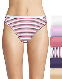 Hanes Ultimate® Women's Comfort Cotton Hi-Cut 6-Pack (Includes 1 Free Bonus Hi-Cut)