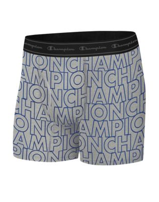 Champion Life™ Men's Printed Logo Boxer Brief, 1-Pair