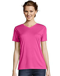 Hanes Sport™ Women's FreshIQ™ Cool DRI® Performance V-Neck Tee