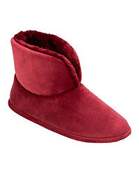 Dearfoams Women's Velour Bootie