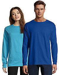 eb9f05cdec20 Hanes Adult Beefy-T Long-Sleeve T-Shirt