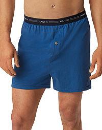 Hanes Men's FreshIQ™ ComfortSoft® Knit Boxers 5-Pack